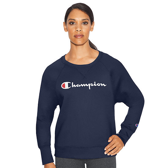 Champion Fleece Graphic Long Sleeve Crew Neck Sweatshirt