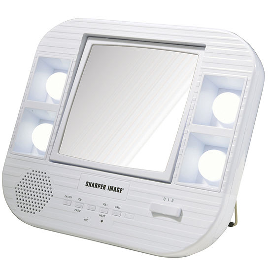 Sharper Image J1025 Lighted Makeup Mirror With Bluetooth