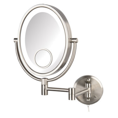 Jerdon HL9515NL LED Lighted Wall Mirror, Nickel