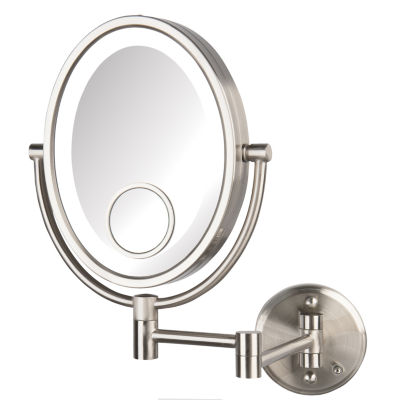 Jerdon HL9515NLD LED Nickel, Direct Wire Lighted Wall Mirror