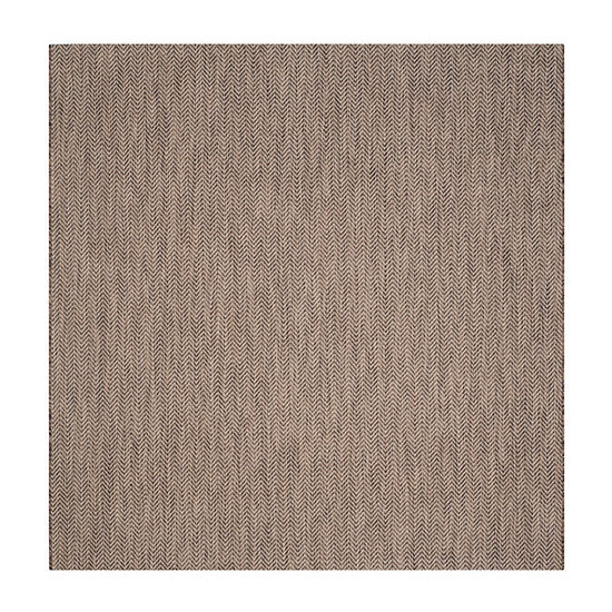 Safavieh Courtyard Collection Katelyn Geometric Indoor/Outdoor Square Area Rug