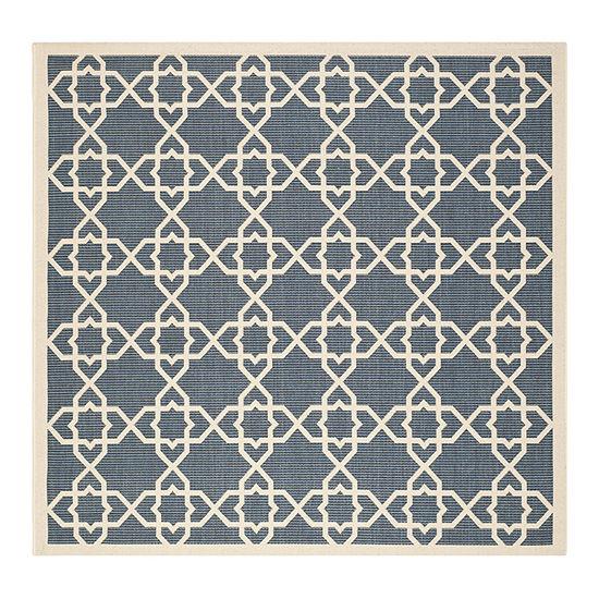 Safavieh Courtyard Collection Nicol Geometric Indoor/Outdoor Square Area Rug