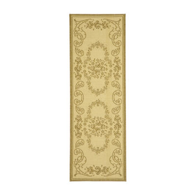 Safavieh Courtyard Collection Kalya Floral Indoor/Outdoor Runner Rug