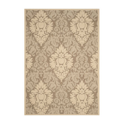 Safavieh Courtyard Collection Louise Damask Indoor/Outdoor Area Rug