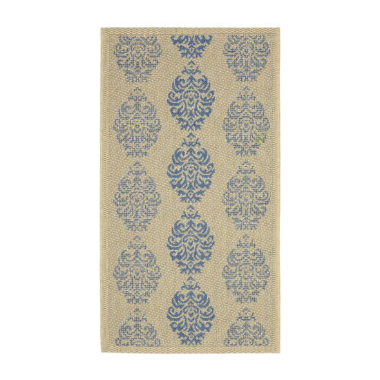 Safavieh Courtyard Collection Ray Floral Indoor/Outdoor Area Rug