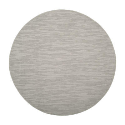 Safavieh Courtyard Collection Tama Geometric Indoor/Outdoor Round Area Rug