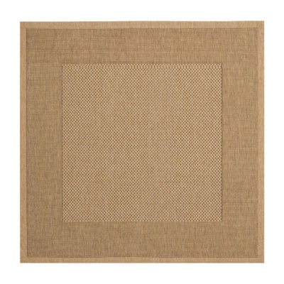 Safavieh Courtyard Collection Trina Bordered Indoor/Outdoor Square Area Rug