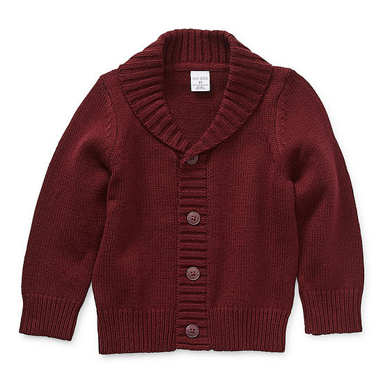 Okie Dokie Toddler Boys Long Sleeve Button Cardigan