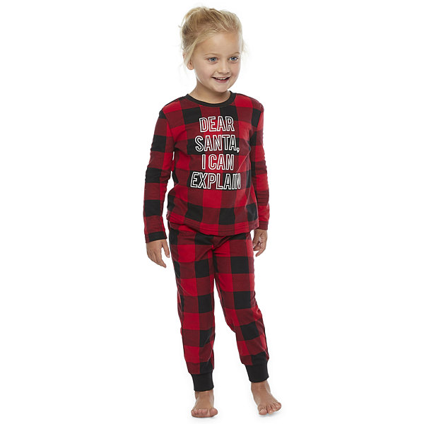 North Pole Trading Co. Buffalo Plaid Toddler Unisex 2-pc. Christmas Pajama Set