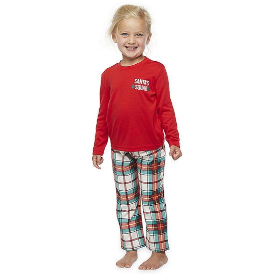 North Pole Trading Co. Tartan Plaid Toddler Unisex 2-pc. Christmas Pajama Set