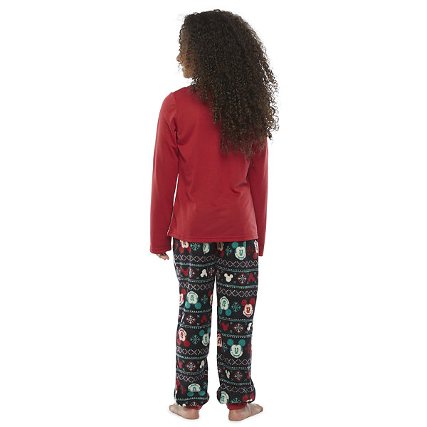 Disney Collection Little & Big Girls 2-pc. Minnie Mouse Christmas Pajama Set