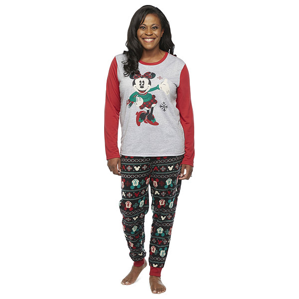 Disney Collection Womens Long Sleeve Pant Pajama Set 2-pc.