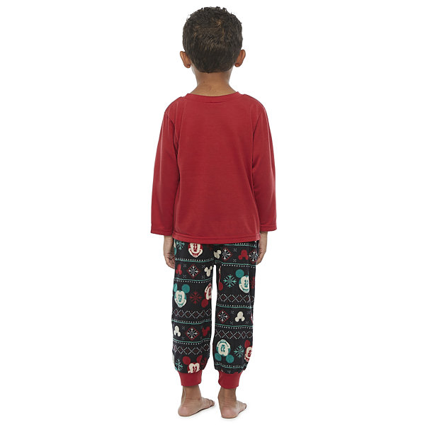 Disney Collection Toddler Boys 2-pc. Mickey Mouse Christmas Pajama Set