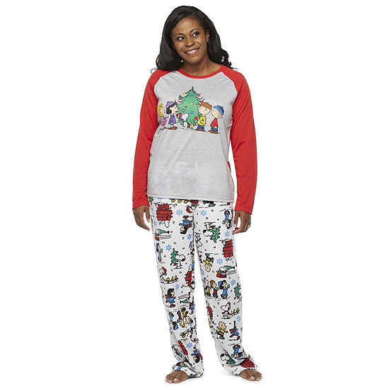 Peanuts Womens Pant Pajama Set 2-pc. Long Sleeve