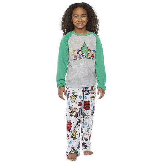 Peanuts Little & Big Unisex 2-pc. Peanuts Christmas Pajama Set