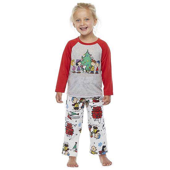 Peanuts Toddler Unisex 2-pc. Peanuts Christmas Pajama Set