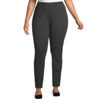 St. John's Bay-Plus Womens Straight Pull-On Pants