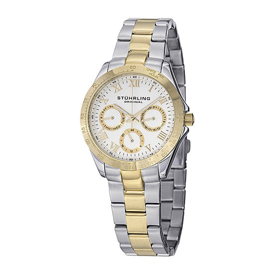 Stührling® Original Womens Two-Tone Stainless Steel Watch