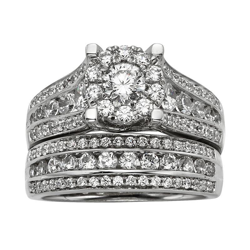 CT. T.W. Diamond Bridal Ring Set, 6