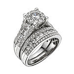 2 CT. T.W. Genuine Diamond Bridal Ring Set
