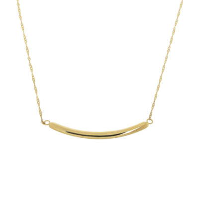Infinite Gold™ 14K Yellow Gold Curved Bar Necklace