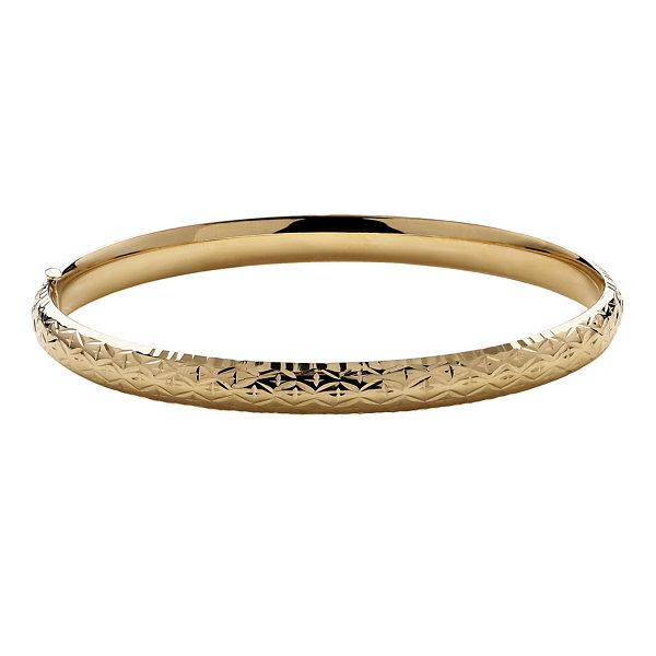 Fine Jewelry Infinite Gold 14K Yellow Gold Polished Hollow Bangle Uix0cy91k