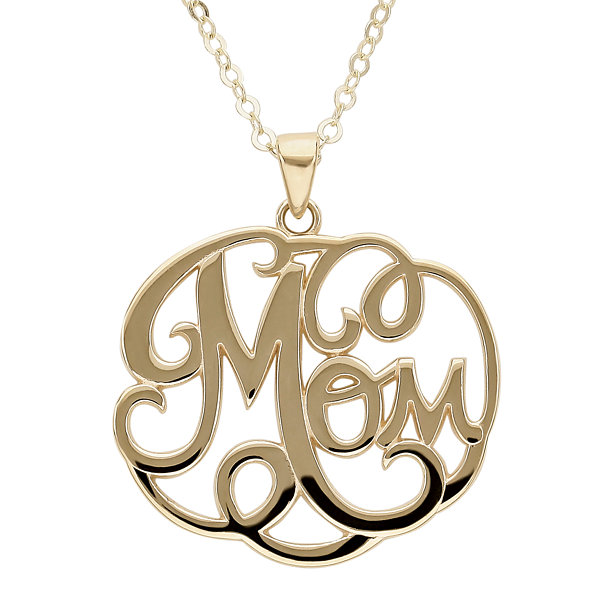 Infinite Gold™ 14K Yellow Gold Mom Pendant Necklace