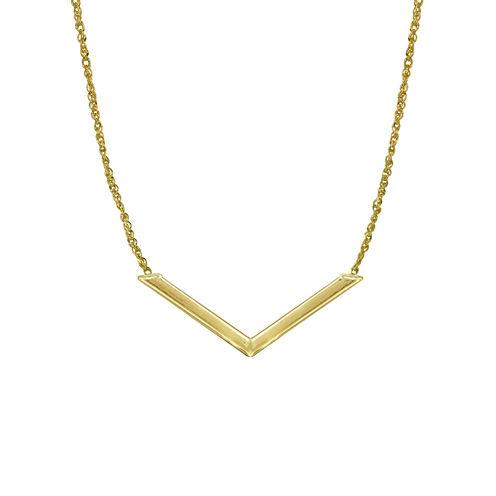 14K Yellow Gold Chevron Necklace
