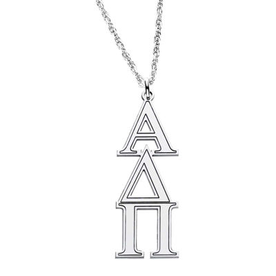 Personalized Sterling Silver Greek Symbols Pendant Necklace