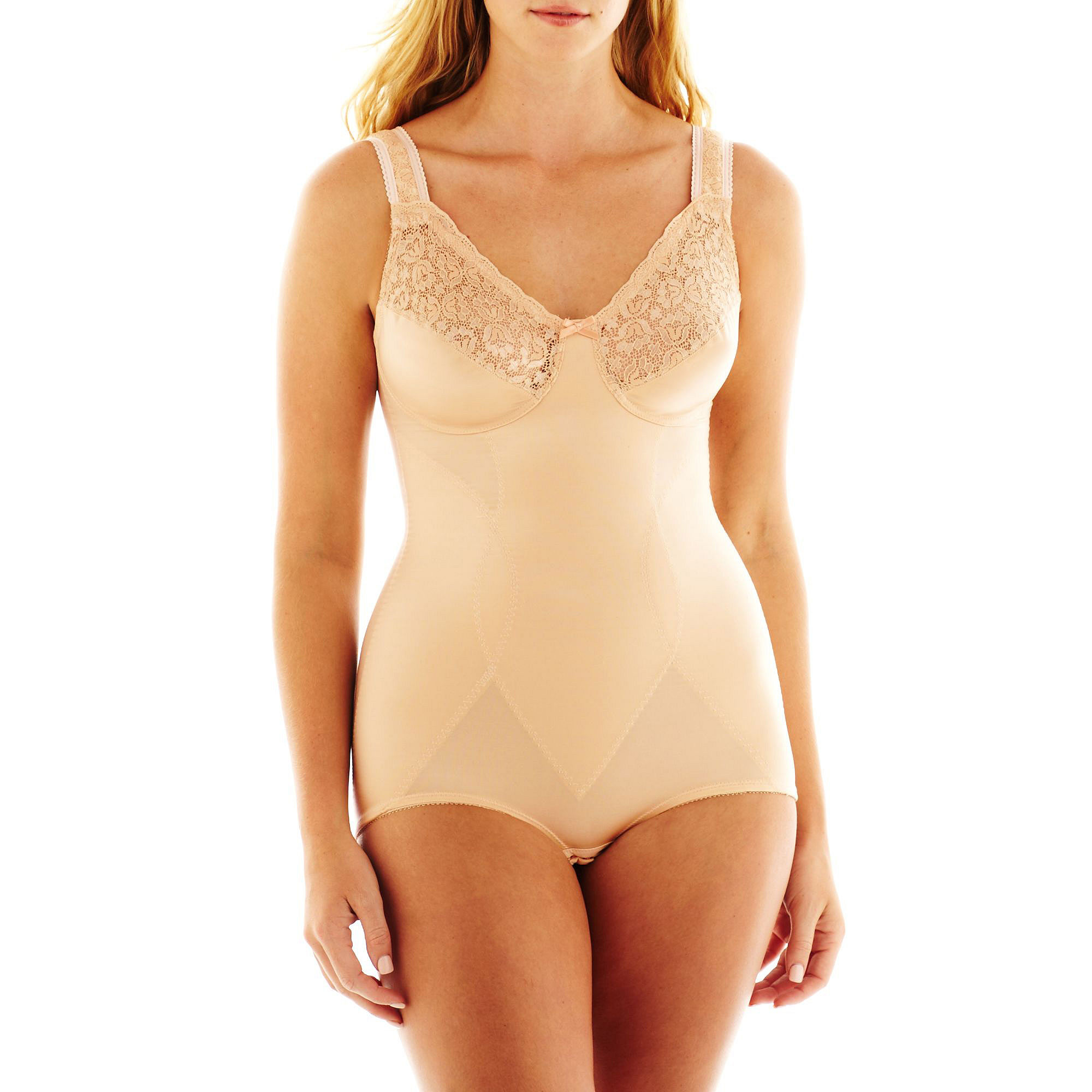 Cortland Intimates Soft-Cup Comfort Body Briefer - 8620 plus size,  plus size fashion plus size appare
