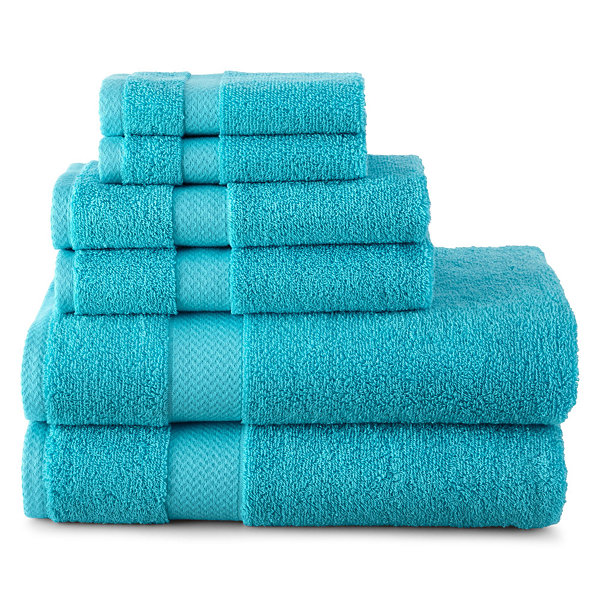 JCPenney Home 6 pc Bath Towel Set JCPenney