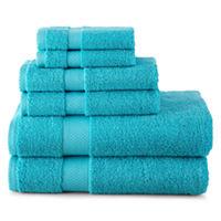 JCPenney Home 6 pc Bath Towel Set Deals
