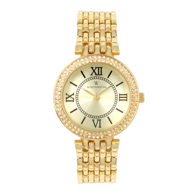 Worthington Womens Gold Tone Bracelet Watch-Wt00028-01