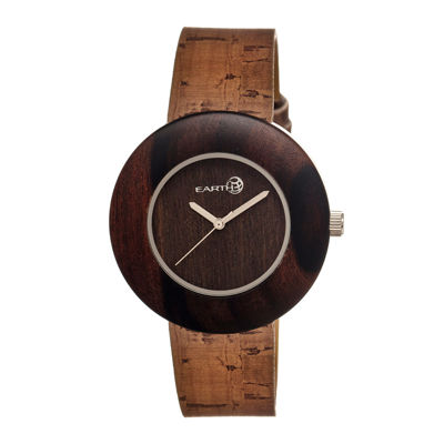 Earth Wood Ligna Dark Brown Leather-Band Watch Ethew1402