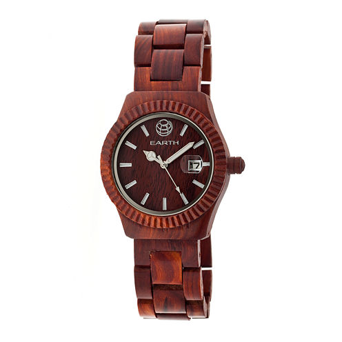 Earth Wood Pith Red Bracelet Watch With Date Ethew1803