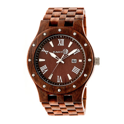 Earth Wood Inyo Red Bracelet Watch with Date ETHEW3203
