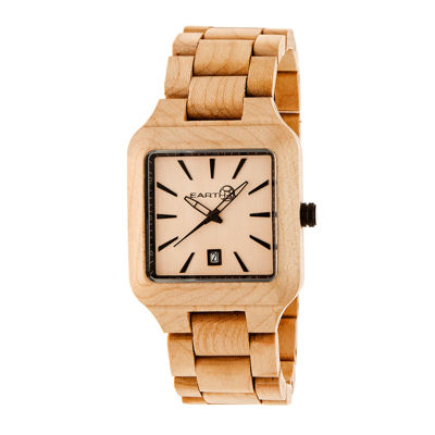 Earth Wood Arapaho Khaki Bracelet Watch with Date ETHEW3601