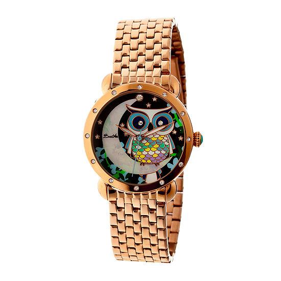 Bertha Ashley Womens Mother Of Pearl Dial Rose Gold Tone Bracelet Watch Bthbr3010