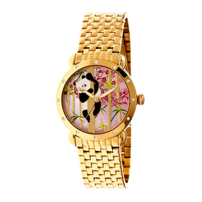 Bertha Lilly Womens Mother Of Pearl Dial Gold Tone Bracelet Watch Bthbr4502