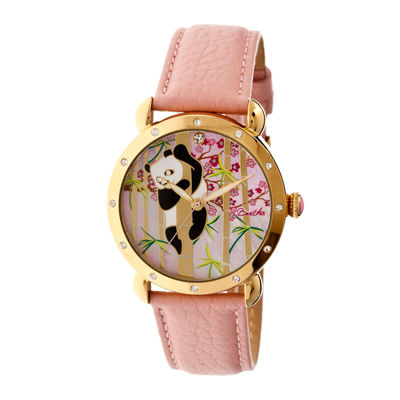 Bertha Lilly Womens Mother Of Pearl Dial Pink Leather Strap Watch Bthbr4505