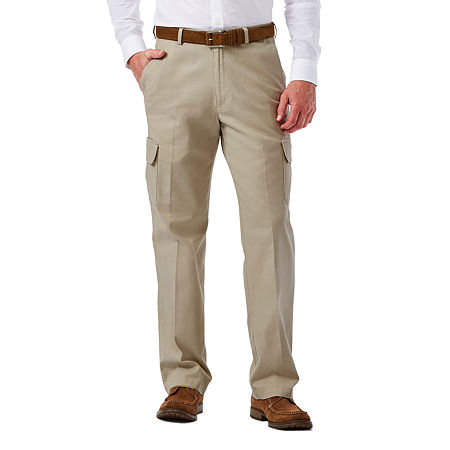 1950s Men's Pants, Trousers, Shorts | Rockabilly Jeans, Greaser Styles Haggar Stretch Comfort Cargo Classic-Fit Flat-Front Pants 42 30 White $36.99 AT vintagedancer.com