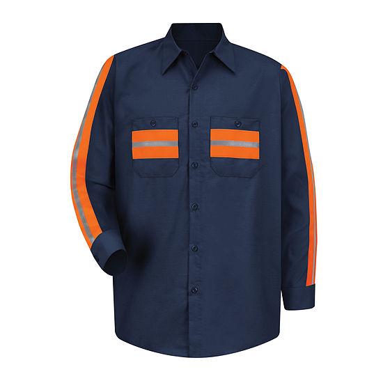Red Kap® Long-Sleeve Enhanced Visibility Industrial Work Shirt