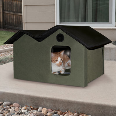 "K & H Manufacturing Outdoor Kitty House Extra-Wide unheated, 26.5"" x 15.5"" x 21.5"""