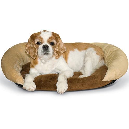 K & H Manufacturing Self-Warming Bolster Pet Bed