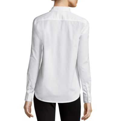 St. John's Bay® Long-Sleeve Wrinkle-Free Shirt