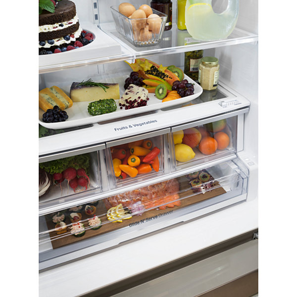 LG 23.5 cu. ft. Smart Wi-Fi Enabled Counter-Depth French-Door Refrigerator