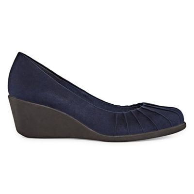 east 5th Womens Floyd Pumps Pull-on Round Toe Wedge Heel