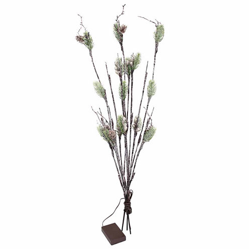 Apothecary Led Frosted Pine Decorative Branch