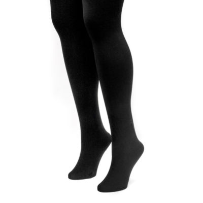Muk Luks 2 Pair Fleece Lined Tights
