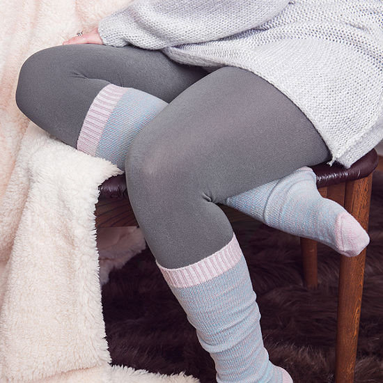 Muk Luks 2-pc. Fleece Lined Tights